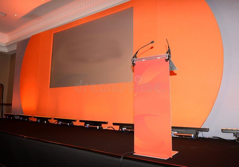 Konferencyjna scena i podium zdjęcia stock