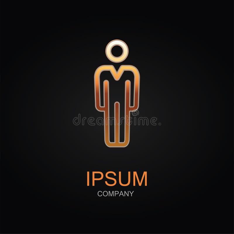 Konferencyjna wektorowa ikona Projekta loga element Odizolowywaj?cy na czarny tle royalty ilustracja