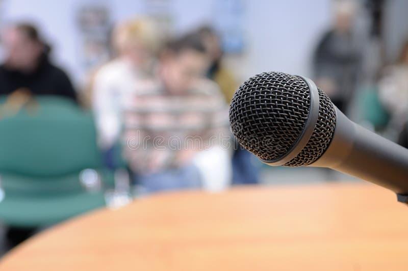 konferencyjny mikrofon obraz stock