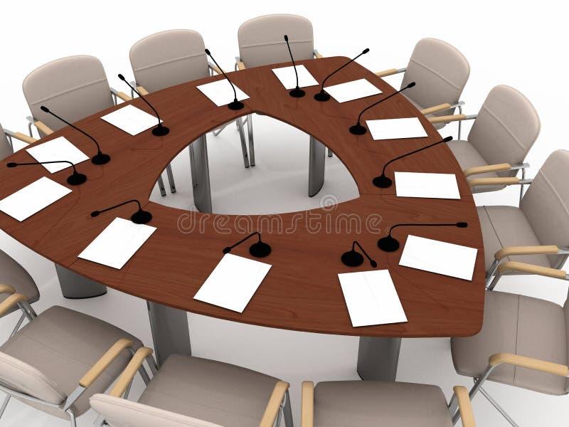 konferencyjny stół royalty ilustracja