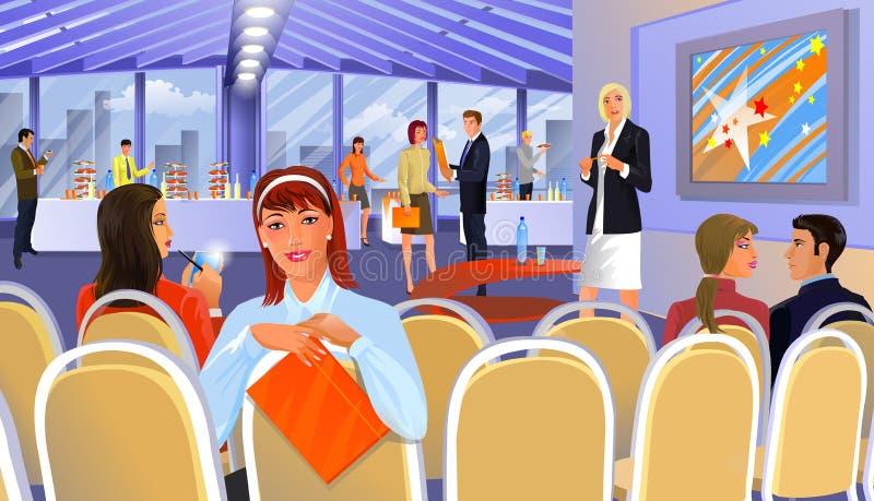 konferens royaltyfri illustrationer