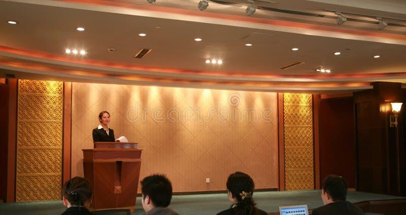 konferens arkivfoto