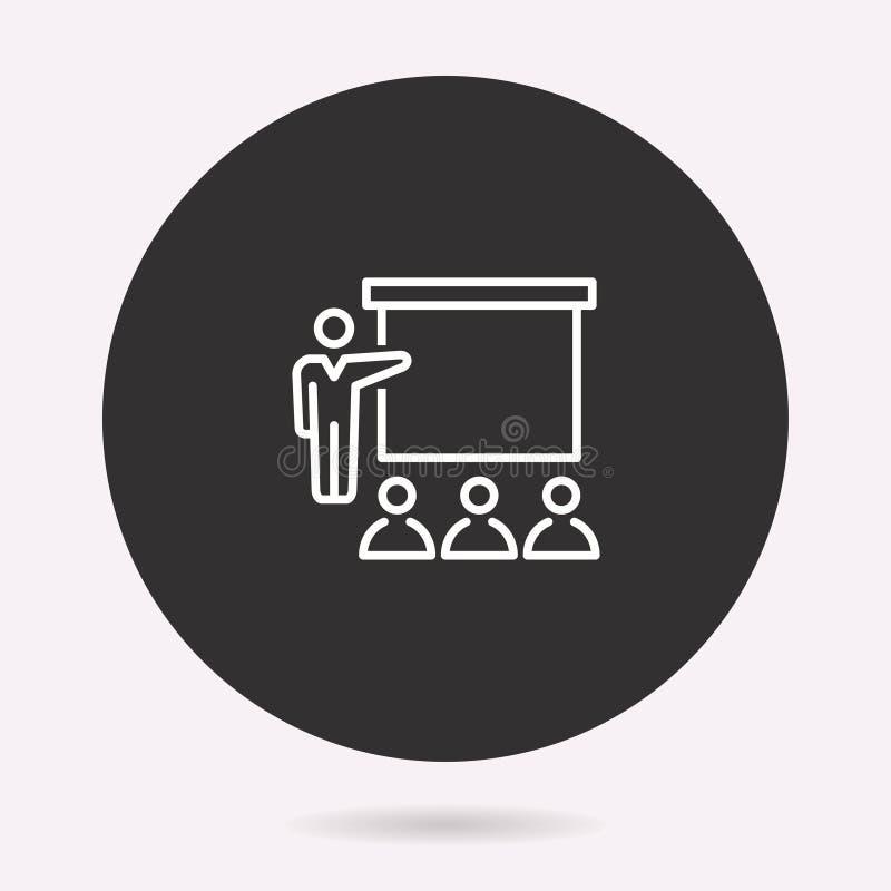 Konferens - vektorsymbol Isolerad illustration enkel pictogram stock illustrationer