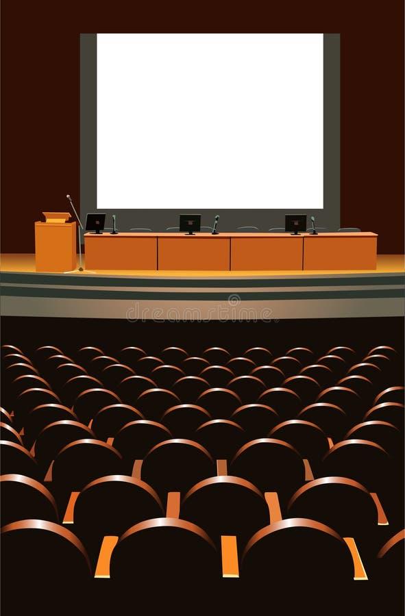 konferenskorridor royaltyfri illustrationer