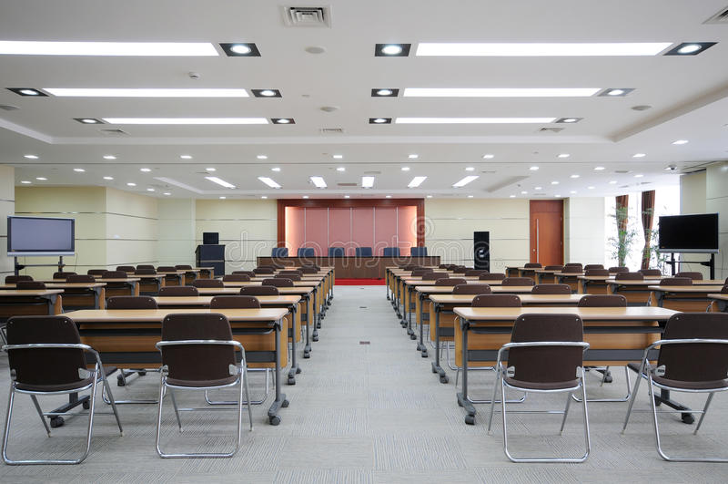 konferenslokal royaltyfria bilder