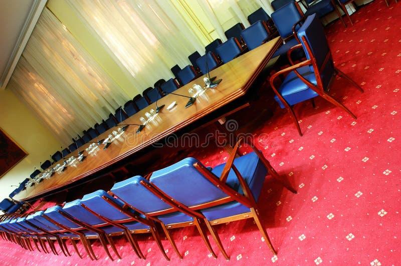 Konferensrum fotografering för bildbyråer