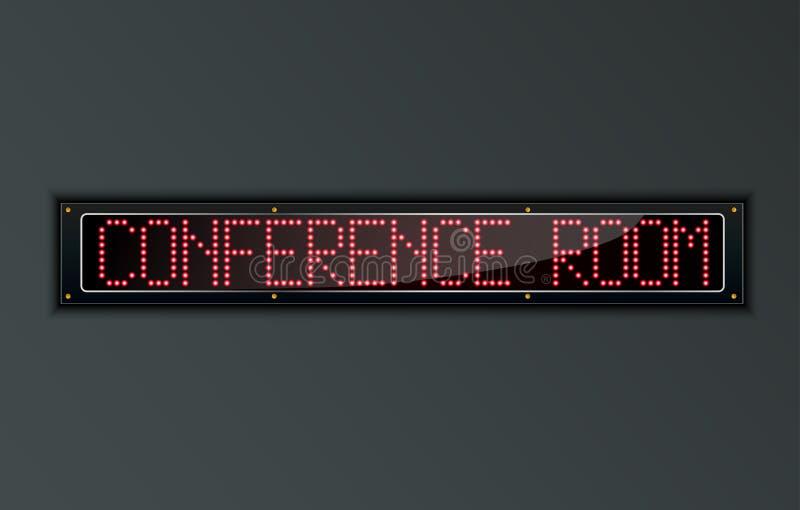 Konferensrum LEDDE det digitala tecknet vektor illustrationer