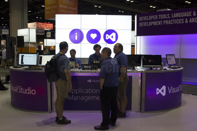 Konferenz 2012 Microsoft-TechEd stockbild
