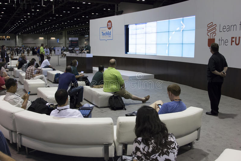 Konferenz 2012 Microsoft-TechEd lizenzfreie stockbilder