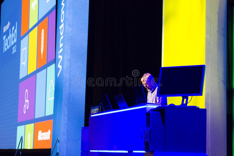 Konferenz 2012 Microsoft-TechEd stockfotos