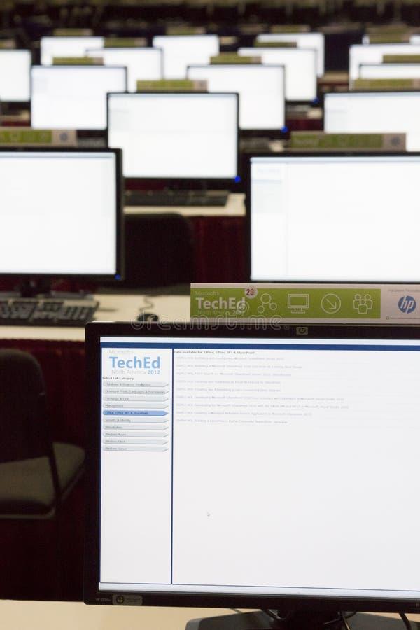 Konferenz 2012 Microsoft-TechEd lizenzfreies stockbild