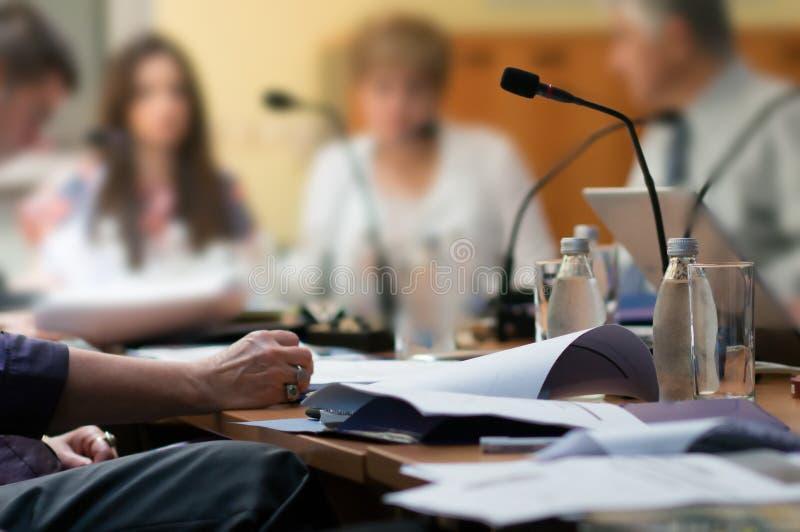 Konferenz stockfoto