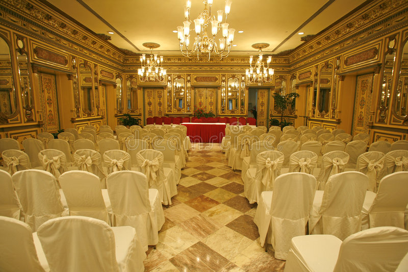 Konferenzsaal im Hotel stockfoto