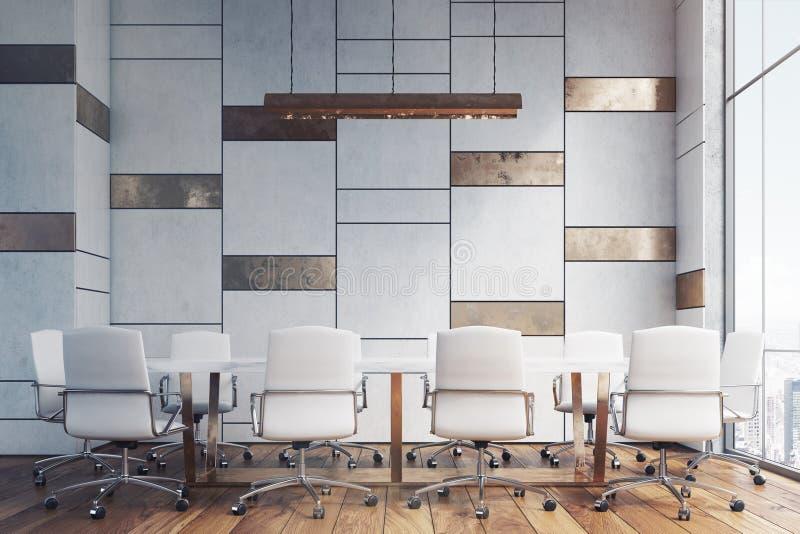 Konferenzsaal mit Bronze und Marmor stock abbildung