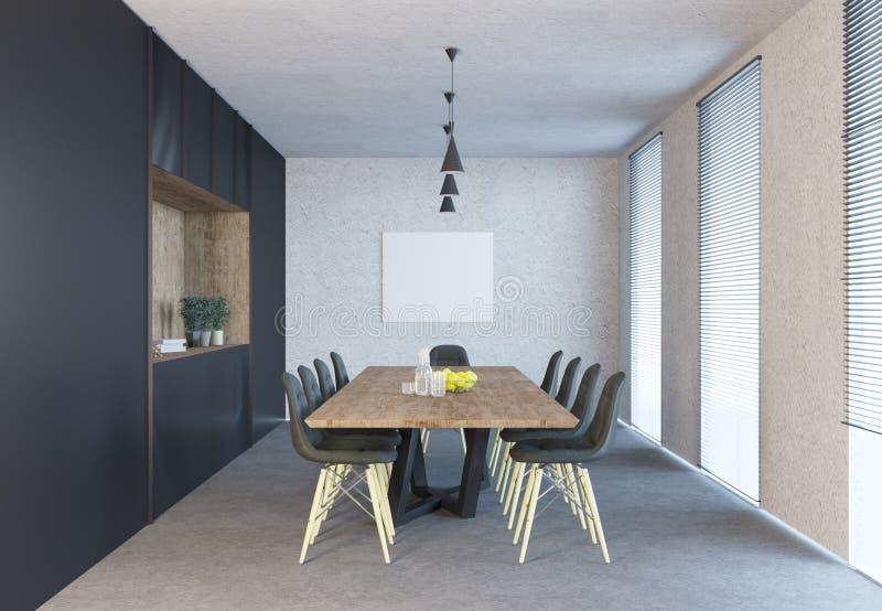 Konferenzsaalinnenraum mit Spott herauf Rahmen lizenzfreie abbildung