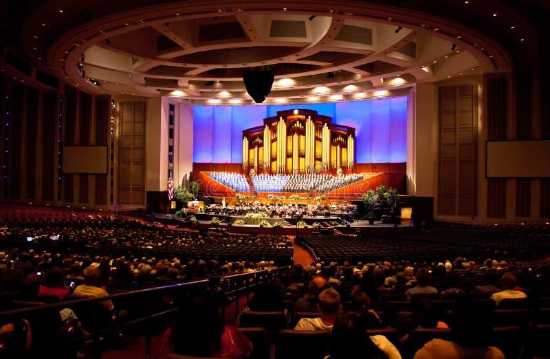 Konferenzzentrum, Salt Lake City lizenzfreie stockfotografie