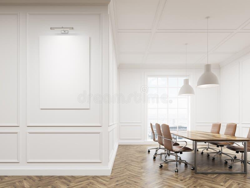 Konferenzzimmer mit weißen Wänden stock abbildung