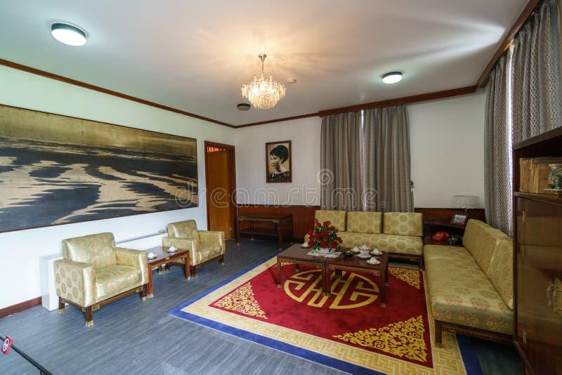 Konferenzzimmer am Unabhängigkeits-Palast lizenzfreies stockbild