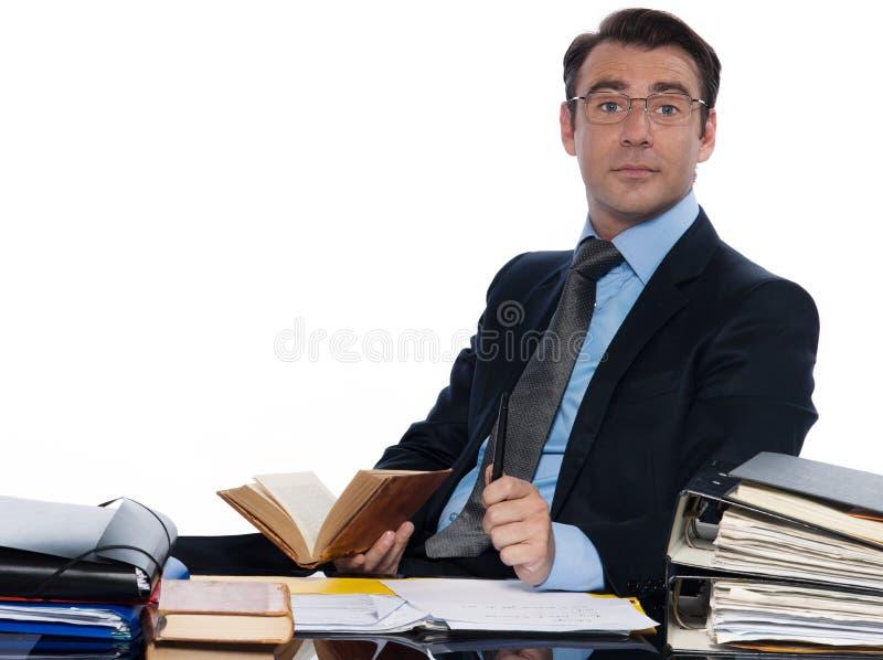 Konferierendes Arbeiten des Mannlehrers stockfoto