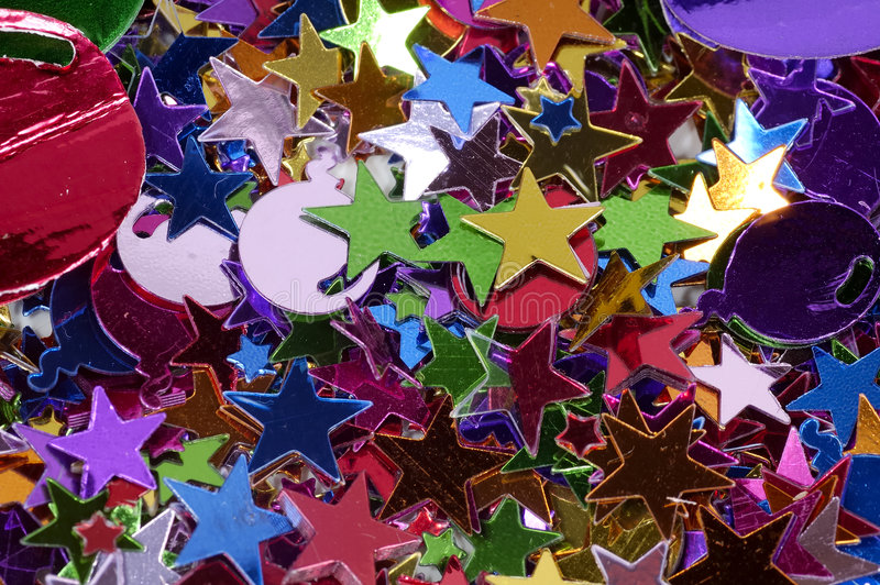 konfetti obrazy stock
