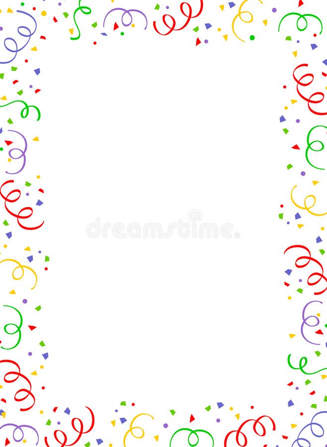 konfetti graniczny upaść ilustracja wektor