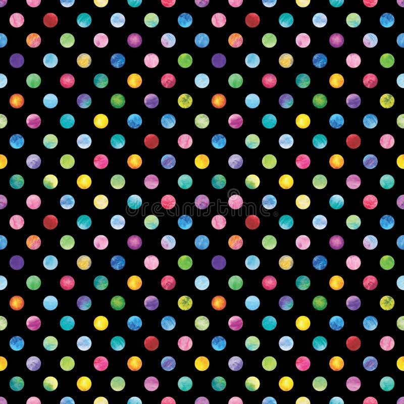 Konfetti-Polka Dot Pattern stock abbildung