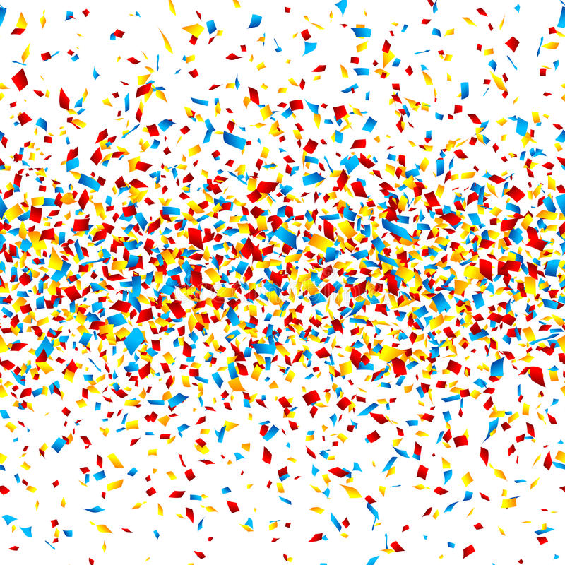 konfettiar stock illustrationer