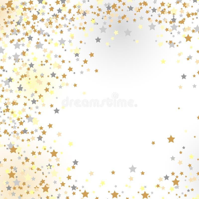 Konfettiar nya år beröm - bakgrund royaltyfri illustrationer