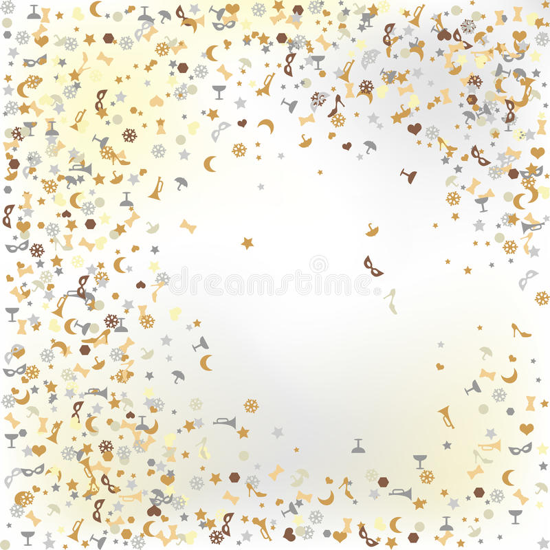 Konfettiar nya år helgdagsafton - bakgrund stock illustrationer