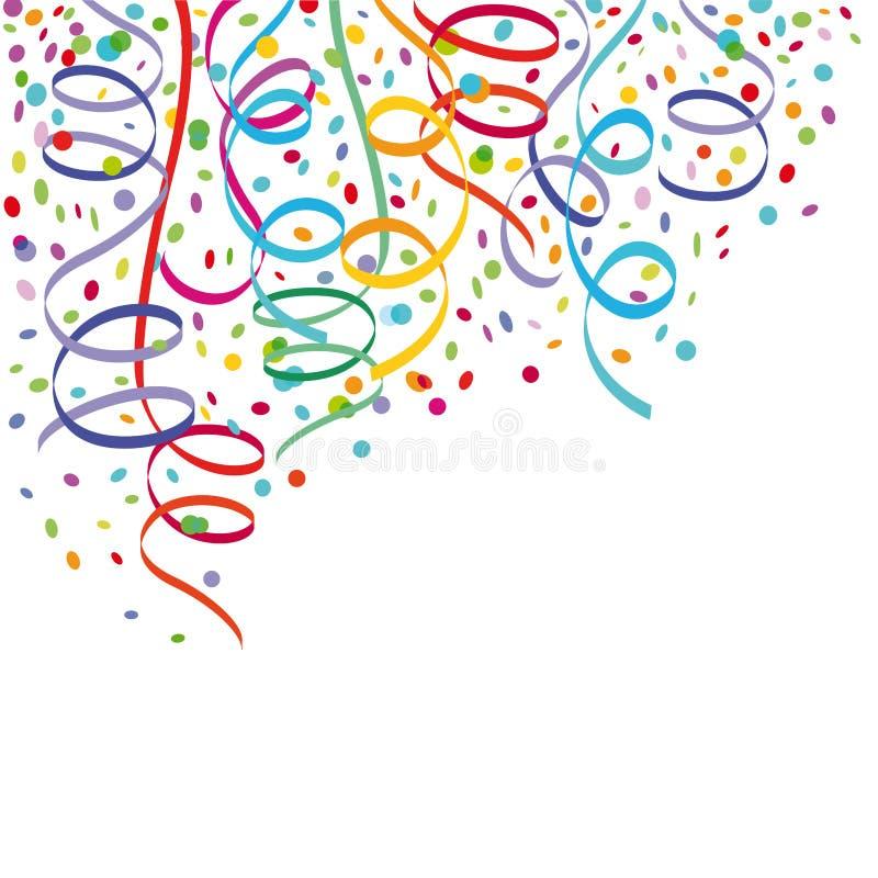 Konfettier och banderoller vektor illustrationer