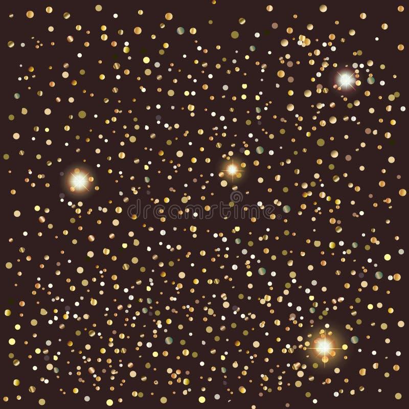 Konfettier och ljus royaltyfri illustrationer