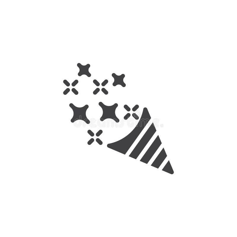 Konfettipopcornapparat med stjärnavektorsymbolen vektor illustrationer