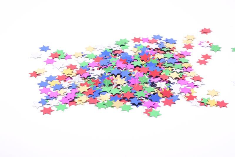 konfettistjärnor royaltyfria foton