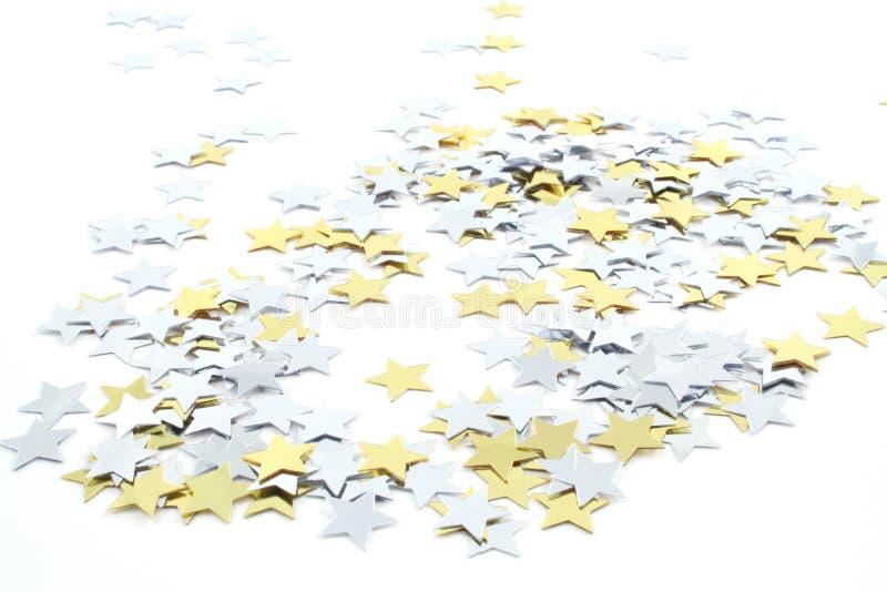 konfettistjärnor arkivfoto