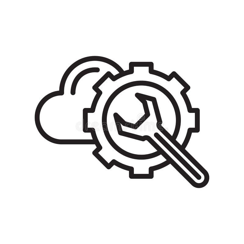 Konfiguracji ikony wektoru znak i symbol odizolowywający na bielu plecy ilustracji
