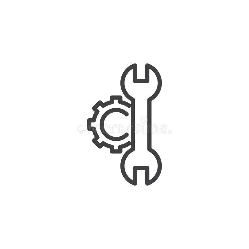 Konfiguration, Einstellungen zeichnen Ikone vektor abbildung