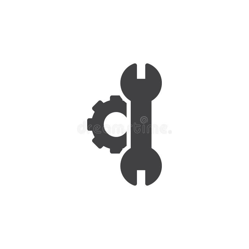Konfiguration, Einstellungsvektorikone lizenzfreie abbildung