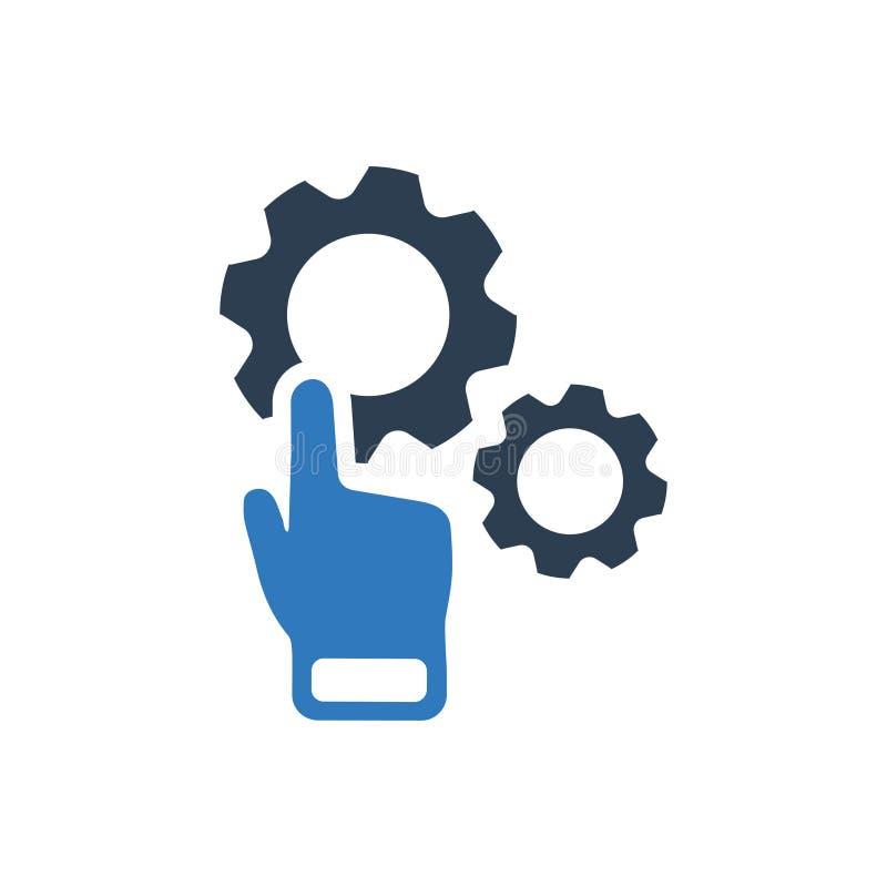 Konfiguration, fertigen Ikone besonders an stock abbildung