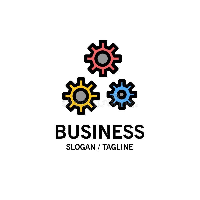 Konfiguration, Gänge, Präferenzen, Dienstleistungsunternehmen Logo Template flache Farbe stock abbildung