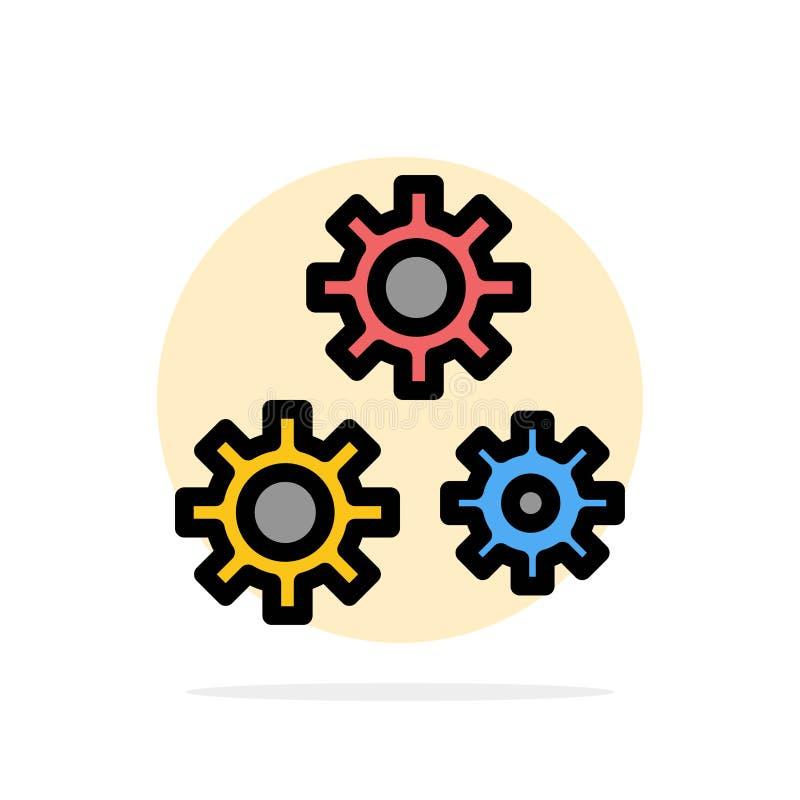 Konfiguration, Gänge, Präferenzen, flache Ikone Farbe Service-des abstrakten Kreis-Hintergrundes vektor abbildung