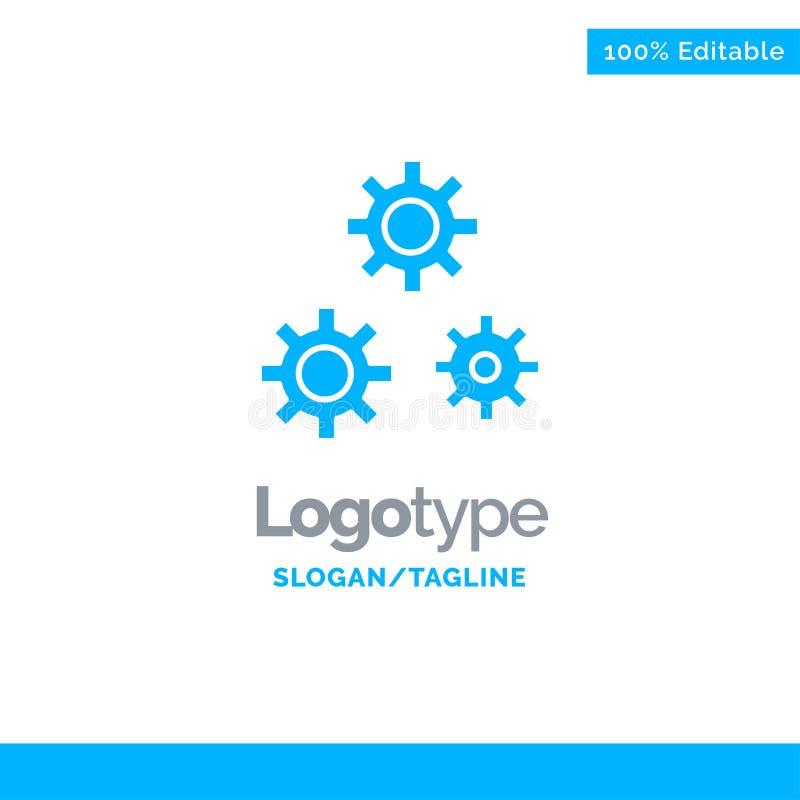 Konfiguration, Gänge, Präferenzen, Service blauer fester Logo Template Platz f?r Tagline vektor abbildung
