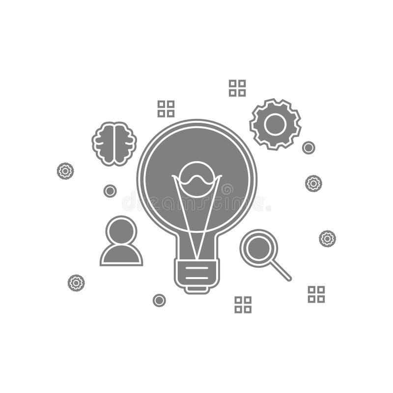 konfiguration som är idérik, alternativsymbol Beståndsdel av popicon för mobilt begrepp och rengöringsdukappssymbol Skåra plan sy royaltyfri illustrationer