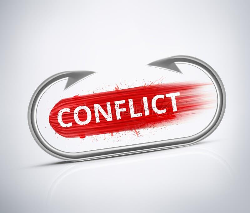 Konflikt vektor illustrationer