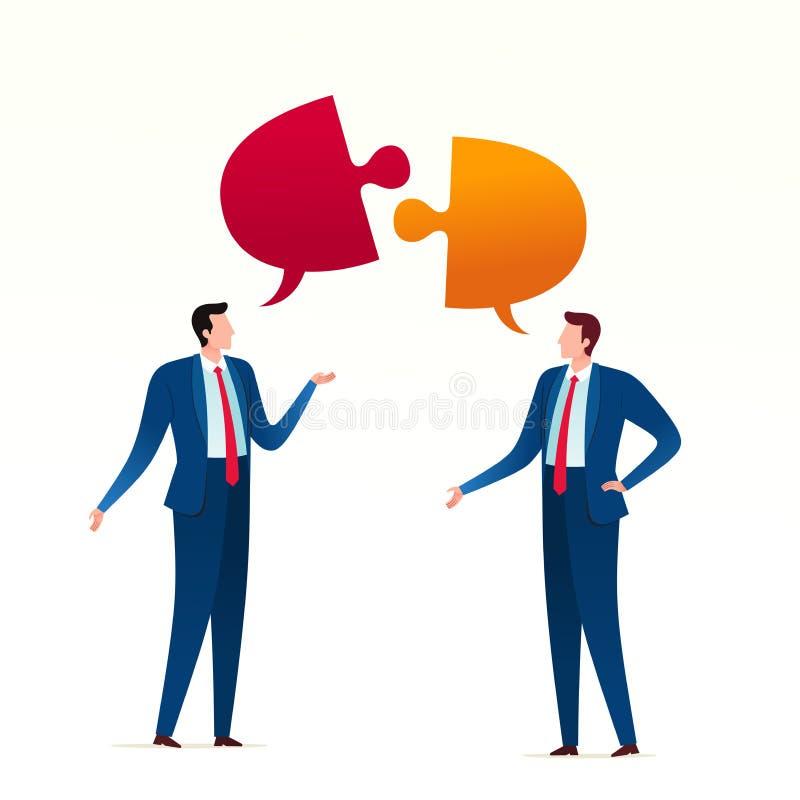 Konflikt för affärsmöte royaltyfri illustrationer