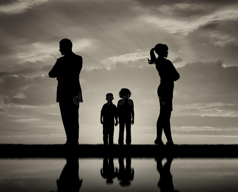 Konflikt i rozwód w rodzinie zdjęcia royalty free