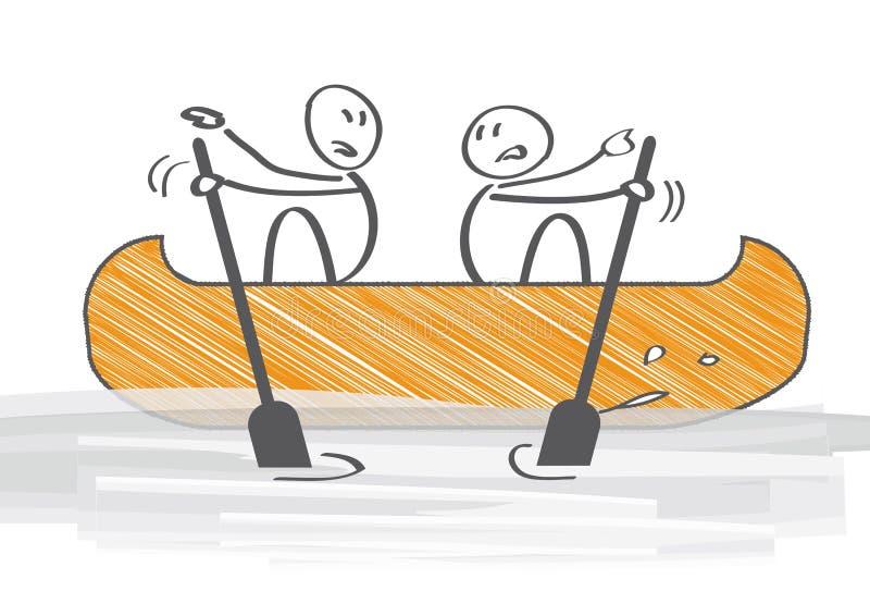 Konflikt - mitt emot riktningar vektor illustrationer