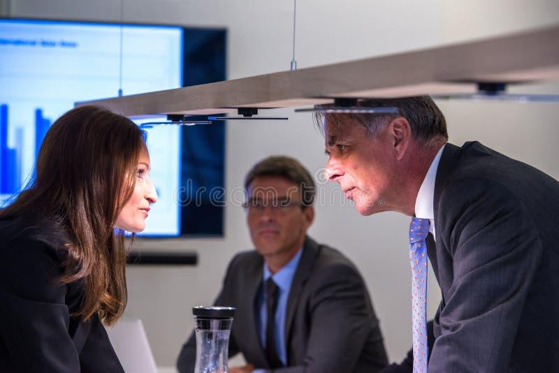 Konflikt w biurze fotografia royalty free