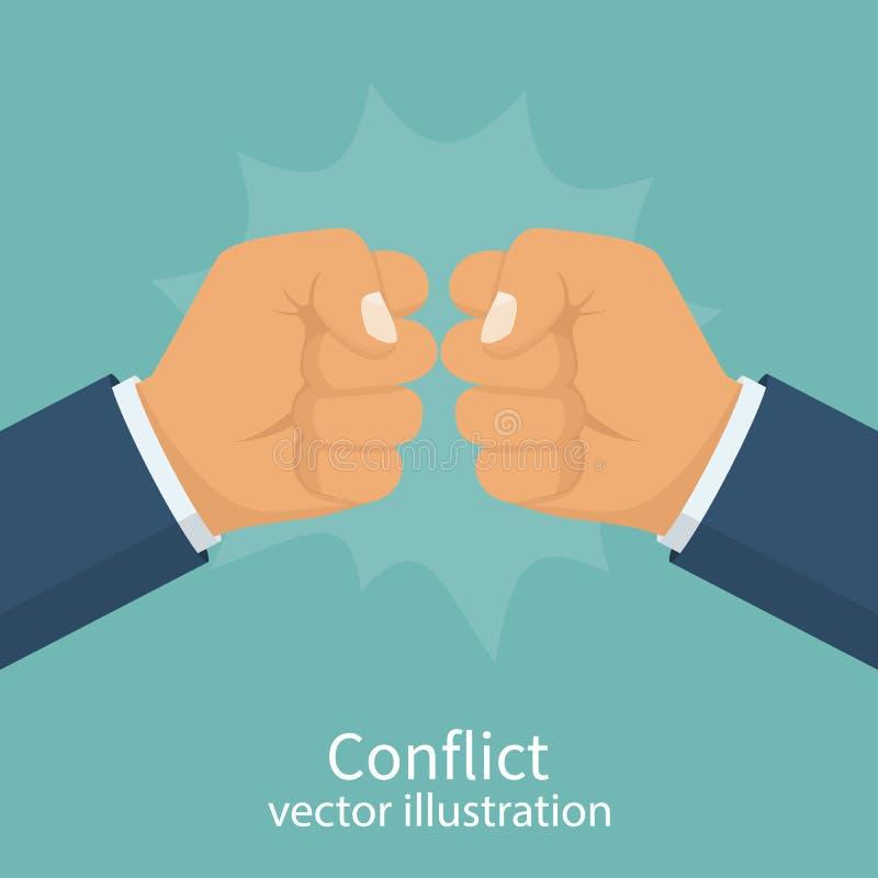 Konfliktbegreppsvektor vektor illustrationer