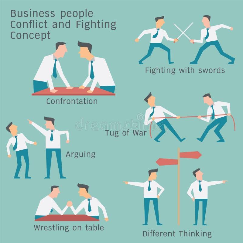 Konfliktu biznes royalty ilustracja