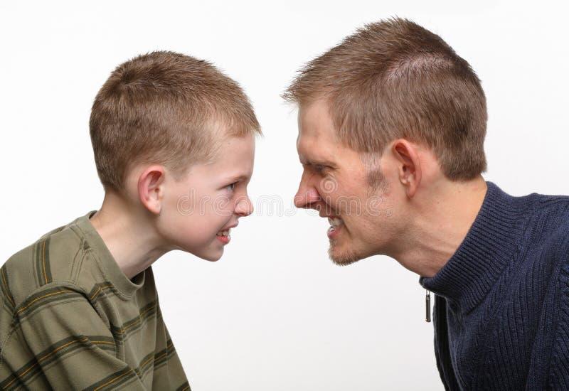konfliktu ojca syn zdjęcia stock